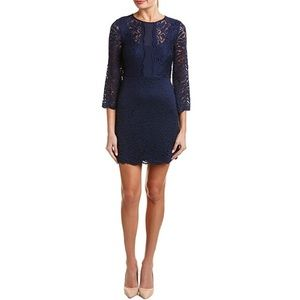 laundry BY SHELLI SEGAL bell sleeve stretch lace